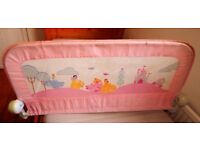 Girls Princess Bed Guard Child Stop Toddler Rail Teddy Safety Pink