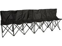 6 Person Folding Sports / Camping Bench Seat Chairs *Brand New*