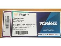 SELLING 2 WIRELESS TICKETS. Can be sold individually. FRIDAY 6th JULY. FINSBURY PARK.