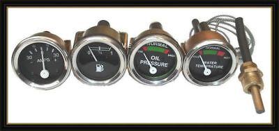 Massey Ferguson Gauge Set- Oil Prmale Temp Fuel Ammeter Mf 3550651