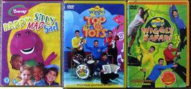 Children's DVD's and Audio cd's, 25p - £1