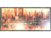 Cityscape (New York) canvas. Originally bought at John Lewis. Measures 109x49x4 cm