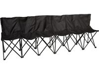 6 Person Folding Chair / Camping Bench Seat Sports *Brand New*