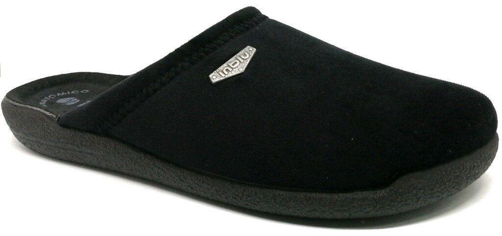 INBLU  pantofole ciabatte da uomo invernali mod. HS-15 nero slippers