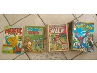 101 Vintage 1970's original marvel comics Spiderman Incredible Hulk Thing Ben Grimm Fantastic Four