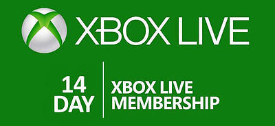 Xbox Live 14 Day 2 Weeks Gold Trial Membership  Xbox One  Worldwide Delivery