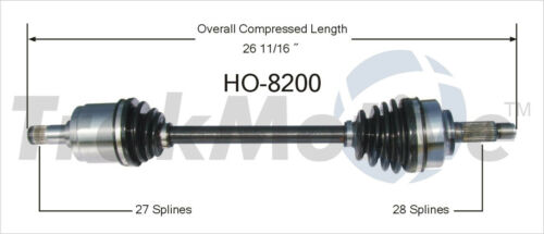 CV Axle Shaft Front Left SurTrack HO-8219 fits 06-11 Honda Civic