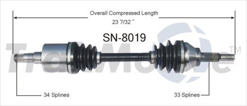 SurTrack HO-8019 CV Axle Shaft