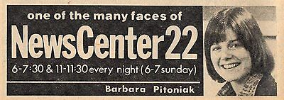 1977 Wwlp Tv Ad Barbara Pitoniak Newscenter 22 News Reporter One Of Many Faces