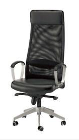 Sleek high back IKEA chair