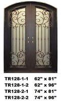 Californian Wrought %100 Iron Double Exterior /Entry DoorTR128