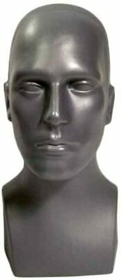 Male Men Pe Plastic Mannequin Head Display Grey 50013