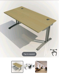 Rectangular Home Office Desk
