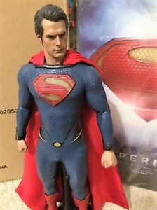 "HOT TOYS 12"" 1/6 MAN OF STEEL HENRY CAVILL SUPERMAN"