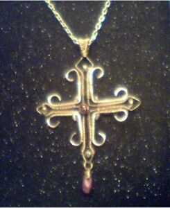 Handcrafted Woven Cross Necklace