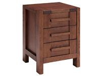 M&S SONOMA BEDSIDE TABLE £125 DARK OAK Size: H060cm x W045cm x D045cm
