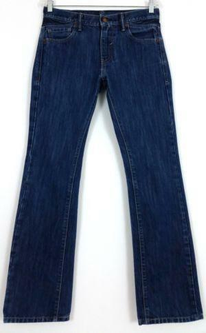 A straight leg design and a slim fit highlight these stylish NBN jeans. These dark vintage denim jeans feature fashionable flap back stitched pockets. Color options: Dark vintage; Traditional five pocket design; Belt loops; Zip up with button closure; Back pocket stitching; The approximate inseam is 32 inches. The measurement was taken from a size
