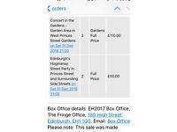 2 street party tickets Edinburgh Hogmanay