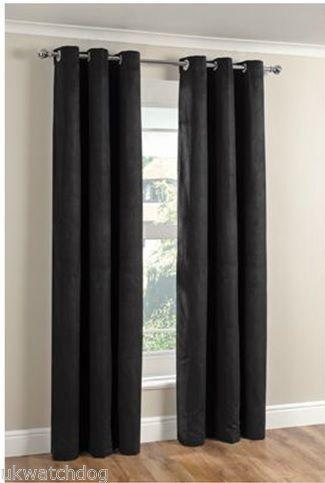 Suedette Curtains Ebay