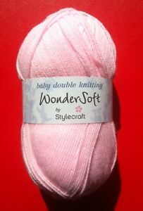 Stylecraft WonderSoft Yarn 100g Baby Double Knitting DK- Choice of Colours