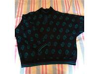 Vintage 70's patterned jumper, medium size