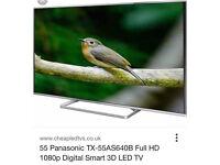 Panasonic 55AS640 SMART 3D FULL HD LED TV