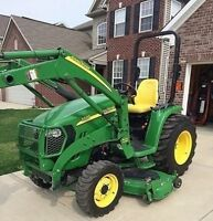 JOHN DEERE 3320 4X4 WITH LOADER AND MOWER 110 HOURS