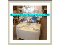 Vintage mirrored dressing table, shabby chic