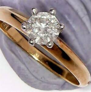 $5875 CERT GENUINE 0.70CT SOLITAIRE DIAMOND RING 18K SOLID GOLD STAMP