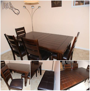 dining room table / chairs