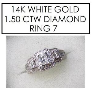 NEW* STAMPED 14K DIAMOND RING 7 177739 146356826 JEWELLERY JEWELRY 14K WHITE GOLD 1.50 CTW