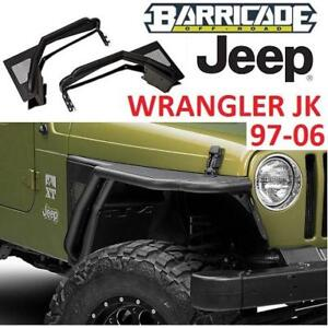 NEW* JEEP FRONT FENDERS W/ FLARE J100296 214102349 WRANGLER 97-06 BARRICADE