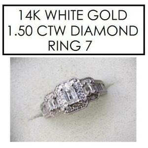 NEW STAMPED 14K DIAMOND RING 7 177739 192326668 JEWELLERY JEWELRY 14K WHITE GOLD 1.50 CTW