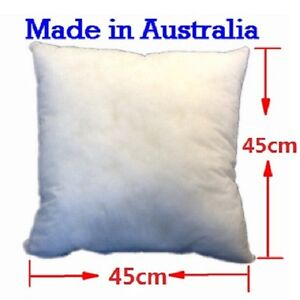 Aus Made New Cushion Inserts Polyester Fibre 45x45CM