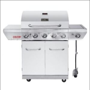Stainless steel propane grill 4 burners and side burner/griddle