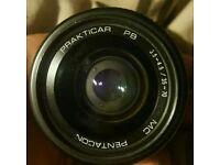 PRAKTICAR F3.5-4.5, 35–70MM MC PENTACON NO.1066960 LENS, PRAKTICA PB MOUNT FIT