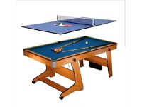 BCE 6FT Pool Table 2 in 1