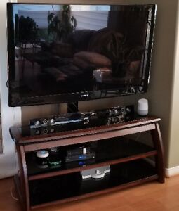 "BUNDLED SAMSUNG 52"" TV, SAMSUNG SOUNDBAR & TV STAND -"