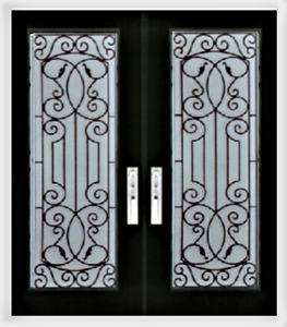 Wrought iron Glass Stained Glass Decorative door glass