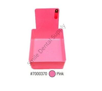Dental Laboratory Working Case Plastic Pan Tray With Clip Holder 1x Pink Pans
