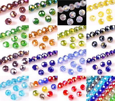 100Pcs Football Faceted Czech Crystal Beads DIY 6mm Round beads jewelry making (Football Beads)