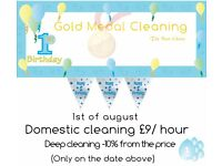 Domestic cleaning £10/hour