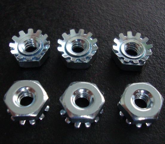 100-1000pcs Zinc Plated K Lock Nut 1/4-20 Keps External Tooth Lock Nuts #Z534 ZY