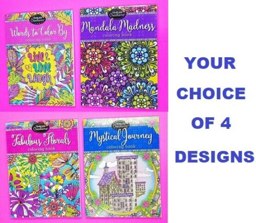 Cra-Z-Art Timeless Creations Coloring Book Kids Adults Floral Relax Creative