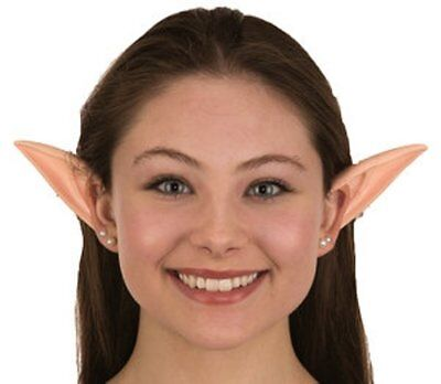 ADULT LONG LARGE RUBBER ELF PETER PAN FAIRY PIXIE COSTUME POINTED ALIEN EARS - Adults Fairy Costumes
