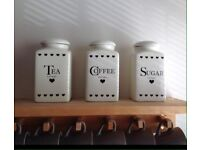 3 matching jars for kitchen