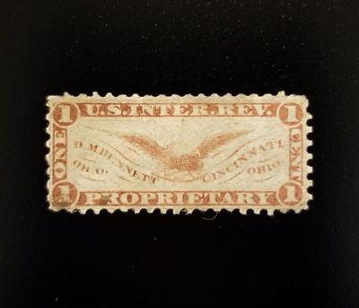D.M. Bennett 1c U.S. Internal Revenue RS30a Private Die, Proprietary, Cincinnati