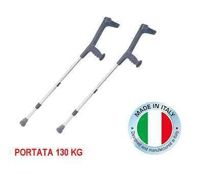 2 STAMPELLE CANADESI IN LEGA LEGGERA BASTONI CANADESI 130 KG MADE IN ITALY