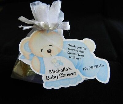 UNIQUE PERSONALIZED BEAR THEME BABY SHOWER PARTY FAVOR GIFT TAGS