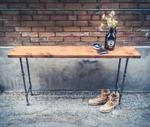 Rustic wood and pipe console table || entryway / sofa table